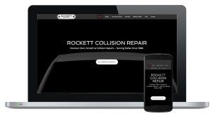 Rockett Collision Repair Website